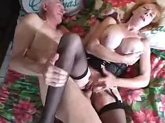 Two Bisexual Granddaddies And A Mature Woman Come Oh So Loose