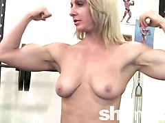 Sexy Mature Blonde in the Gym