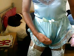 more crossdressing in lingerie and wanking