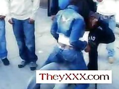 Beauty Dior gives guys on the street in Harlem Lap dances