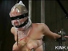 Pretty hot babe gets punished and fucked in bondage