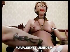 Marie McCray bound, whipped and hard bondage orgasms