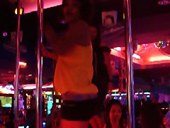 Pattaya Walking Street Girls And Ladyboys Dancing
