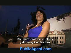 PublicAgent Sexy brunette loves my charm and money