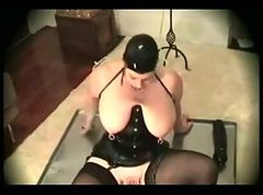 Latex-Fetish-BBW with Huge Boobs
