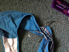dumping my load in wife's dirty panties