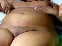 thick indian aunty showing off