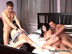 cock sucking and banging at an awesome foursome