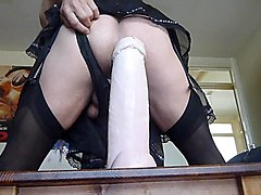riding my 'gigadong' dildo...after giving birth!!