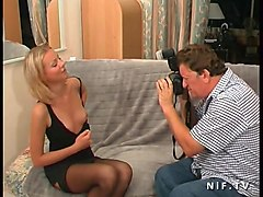 pretty young russian slut sodomized for her french casting