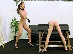 caning by hot naked femdom mistress