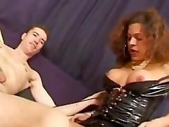 black french shemale enjoys having sex with white straight cute guy - trans