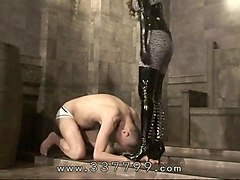 japanese femdom kira hits body of slaves with a whip