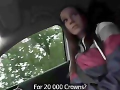 cute college girl suck big cock and fuck in a car for 20000 money