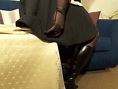 black boots and a dildoxxx