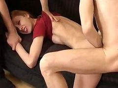 Tall Skinny Russian Girl Fucked by Repairman and His Friends