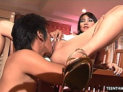 hot thai with big fake boobs getting drilled hard