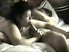 chubby ugly and dirty black head was sucking her man's lollicock