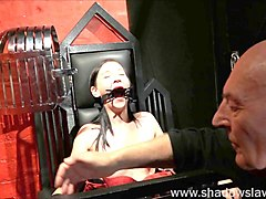 restrained milf lolanis amateur bdsm and tied tit