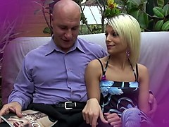 La Novice - Hot brunette French newbie enjoys hardcore pussy and ass bang