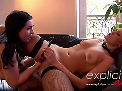 two crazy french babes fistfucking each other part 1