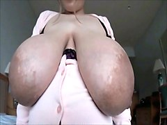 Addies huge Areola and stocking suspender fetish 1