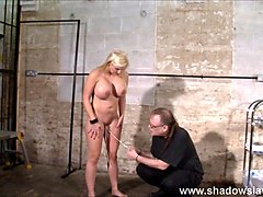 Pussy tortured Melanie Moons busty bdsm and german ### girl in interracial domination by cruel black master putting we