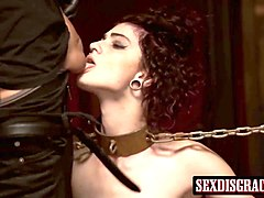 cute tied up babe lydia black having rough bondage sex