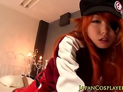asian teen cosplay babe fucking old guy