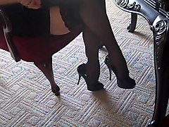 High heels and silk stockings