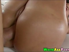 phat ass milf lisa ann oiled up booty then fucked hard
