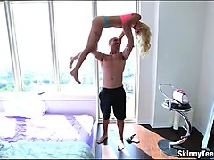 Very tight blonde teen drilled real good