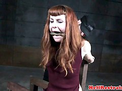 gagged redhead sub bound and analy hooked
