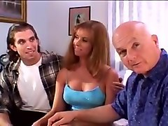 Sexy milf wife fucks ron and grandpa dave to fill her pussy