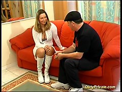 French Teen first anal casting