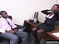 osa lovely gets caught masturbating in her bosses chair...