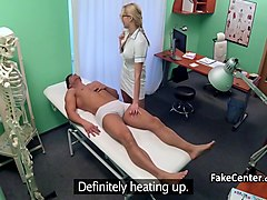 Perverted nurse fucks her patient