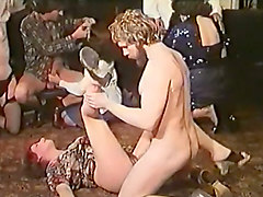 french white sluts having orgy with two men on the floor