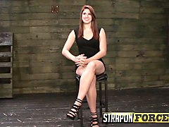twisted redhead fucks her domme
