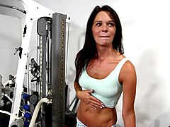 two hot ladies get pounded in the gym