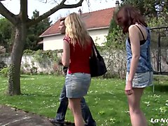 la novice - sweet amateur french teens fuck each other in lusty lesbian sex session