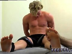 amazing stud gets his feet tickled and worshiped