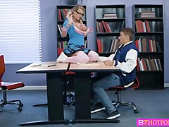Cali Carter sucks big D under the table