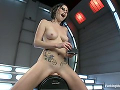 Holes of Action: Hot Babe Fucked by Machines Bigger than Her