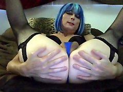 Sexy tasha swift fucks her ass dildo crossdresser shemale