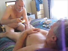 Stroking and sucking another hot-waxed wad from farmer