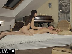 Anally.tv Mari's massage followed by anal orgasm