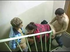 Russian Gala Loves fuck two cocks