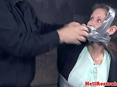 granny slave gets tortured by her dungeon master