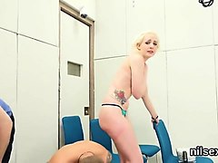 frisky sweetie is brought in anal assylum for painful treatm